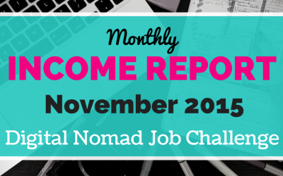 November Digital Nomad Income Report