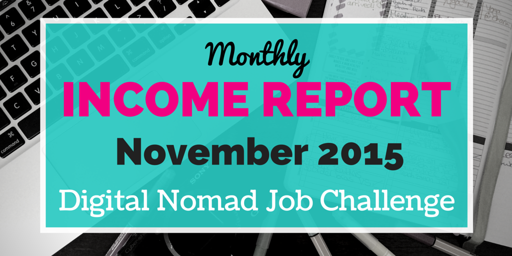 November digital nomad income