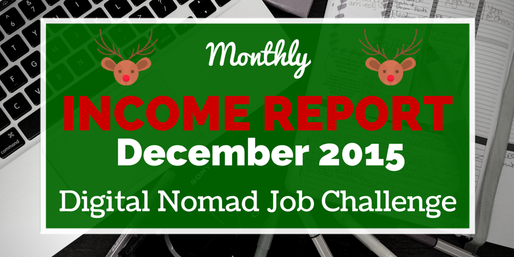 December Digital Nomad Income Report