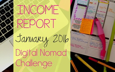January Digital Nomad Income Report 2016